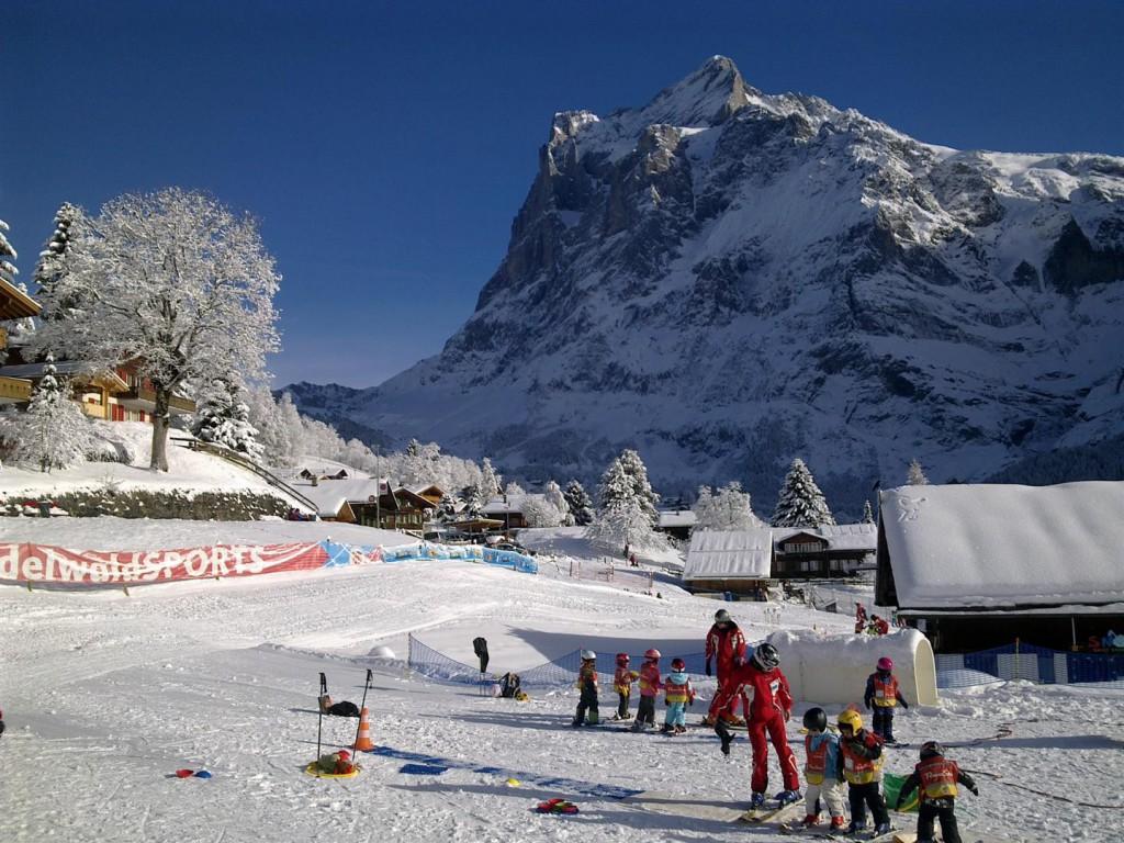 Winter: Skischulgelände Bodmi (650 Meter)