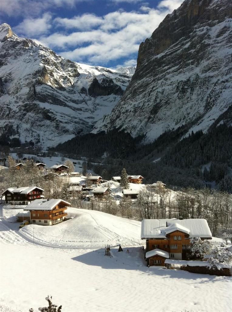 Winter: Ostsicht Wetterhorn / oberer Gletscher