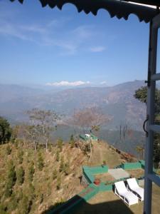 Sicht auf den Kangchendzönga aus dem Hotelzimmer des Glenburn Tea Estate