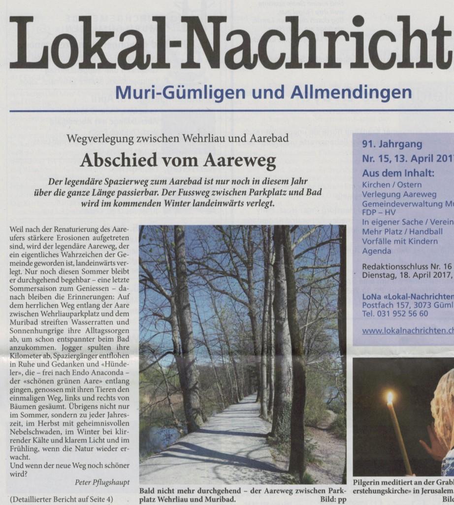 Lokal-Nachrichten Muri-Gümligen 13.4.2017