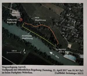 Wegen Erosion soll der Fussweg zum Aarebad Muri weg, ein krasser Fehlentscheid der Behörden
